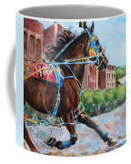trotter standardbred Horse at the Little Brown Jug Coffee Mug