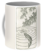Trout Rising To Dry Fly Coffee Mug by Charles Harden