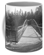 Trowbridge Falls Bridge Bw Coffee Mug