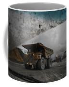Trucks Hauling Waste Rock At Batu Coffee Mug by Randy Olson