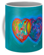 True Blue Hearts Coffee Mug