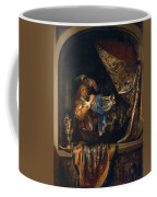Trumpet Player In Front Of A Banquet 1665 Coffee Mug