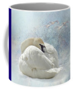 Trumpeter Textures #1 - Swan Feather Coffee Mug by Patti Deters