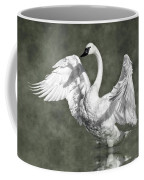 Trumpeter Swan In The Fog Coffee Mug
