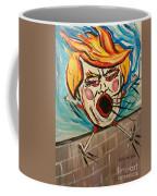 Trumpty Dumpty Falling Off His Imaginary Wall Coffee Mug