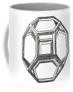 Truncated Octahedron With Open Faces Coffee Mug