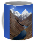 Tsho Phu Lakes And Jichu Drake Coffee Mug
