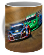 Tudor Audi R8 Races Porsche 911rsr United Sportcar Championship Coffee Mug