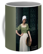 Tudor Woman Outside A Timber Building  Coffee Mug