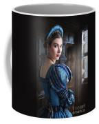 Tudor Woman With Puffed Sleeves And French Hood Facing A Window  Coffee Mug