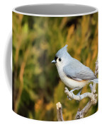 Tufted Titmouse On A Branch Coffee Mug