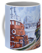 Tugs In Harbour Coffee Mug
