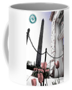 Tuilps And The Washington Monument  Coffee Mug