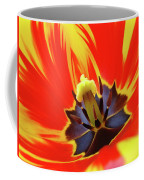 Tulip Flower Floral Art Print Red Yellow Tulips Baslee Troutman Coffee Mug