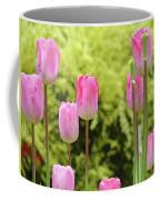 Tulip Garden Landscape Art Prints Pink Tulips Floral Baslee Troutman Coffee Mug