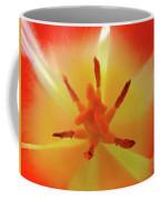 Tulip Inside Flower Orange Tulips Art Prints Baslee Coffee Mug