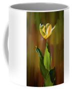 Tulip White Yellow Petals #h5 Coffee Mug