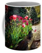 Tulips And Bench Coffee Mug