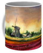 Tulips And Windmill From The Netherlands Coffee Mug