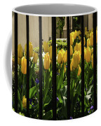 Tulips Behind Bars Coffee Mug