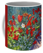 Tulips By The Gate Coffee Mug