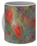 Tulips- Floral Art- Abstract Painting Coffee Mug