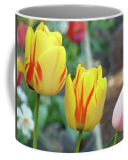 Tulips Garden Art Prints Yellow Red Tulip Flowers Baslee Troutman Coffee Mug