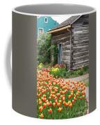 Tulips Lead To The Cabin Coffee Mug