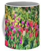 Tulips. Monet Style Digital Painting. Coffee Mug