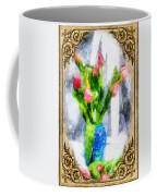 Tulips On A Half Shelf Coffee Mug