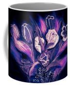 Tulips On Black Coffee Mug