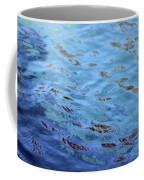 Turquoise And Blue Swirls Large Canvas Coffee Mug