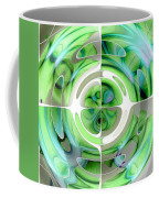Turquoise And Green Abstract Collage Coffee Mug
