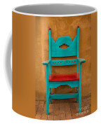 Turquoise And Red Chair Coffee Mug