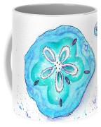 Turquoise Blue Sand Dollar Shells Coffee Mug