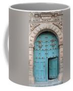 Turquoise Cusco Church Door Coffee Mug