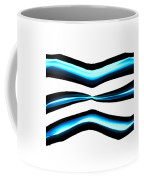 Turquoise Teal Abstract Lines Coffee Mug
