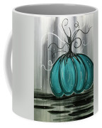 Turquoise Teal Surreal Pumpkin Coffee Mug