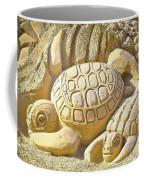 Turtle Sand Castle Sculpture On The Beach 999 Coffee Mug