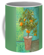 Tuscan Orange Topiary - Damask Pattern 2 Coffee Mug