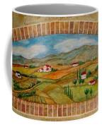 Tuscan Scene Brick Window Coffee Mug