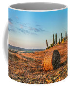 Tuscany Landscape With Farm House At Sunset, Val D'orcia, Italy Coffee Mug