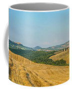 Tuscany Landscape With Rolling Hills At Sunset, Val D'orcia, Ita Coffee Mug