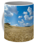 Tuscany Landscape With The Town Of Pienza, Val D'orcia, Italy Coffee Mug