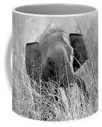 Tusker In The Grass Coffee Mug