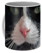 Tuxedo Cat Whiskers And Pink Nose Coffee Mug