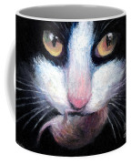 Tuxedo Cat With Mouse Coffee Mug