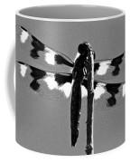 Twelve-spot Skimmer Dragonfly-bw Coffee Mug