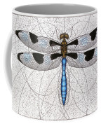 Twelve Spotted Skimmer Coffee Mug by Charles Harden