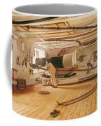 Twenty-seven Pound Cannon On A Battleship Coffee Mug by Gustave Bourgain